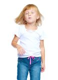Girl dancing closed her eyes Royalty Free Stock Photography