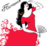 Girl dancing flamenco Royalty Free Stock Photo