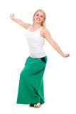 Girl dancing and hands apart Stock Photography