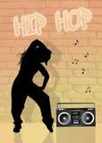 Girl dancing hip hop Royalty Free Stock Photo