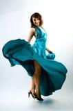 Girl Dancing In The  Dress Stock Photo
