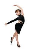 Girl dancing latin dances Royalty Free Stock Image