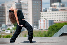 Girl dancing modern style Stock Photos