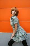 Girl dancing outdoor Royalty Free Stock Photos