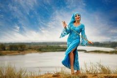 Girl dancing Sa`idi dance Stock Photos