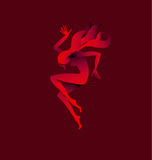 Girl dancing silhouette. Stock Images
