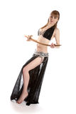 The girl in a dancing suit with sabre Stock Image