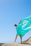 Girl dancing in the wind Stock Photography