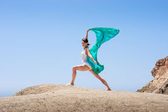 Girl dancing in the wind Royalty Free Stock Images