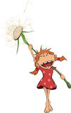The girl and a dandelion Stock Image