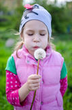 Girl with dandelion Royalty Free Stock Images