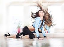 Girl dansing streap dance Royalty Free Stock Images