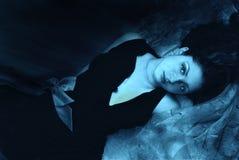 Girl in dark Stock Image