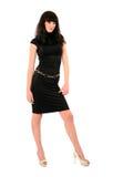 Girl in dark dress Royalty Free Stock Photo