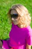 Girl in dark glasses Stock Photography