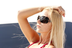 Girl in dark glasses Royalty Free Stock Photos