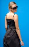 Girl in dark glasses Royalty Free Stock Image