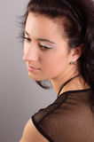 Girl with dark hair Royalty Free Stock Images