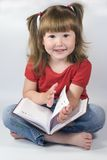 Girl with day planner Stock Image