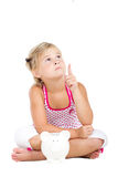Girl daydreaming Stock Images