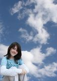 Girl daydreaming Stock Photography