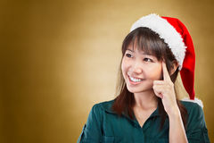 Girl daydreaming about  Christmas Stock Image