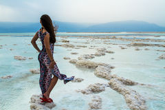 Girl at the Dead Sea Royalty Free Stock Photos
