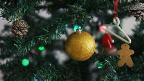 Christmas tree in the house stock video footage