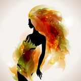 Girl decorative Stock Images