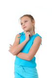 Girl deep in thoughts Royalty Free Stock Images