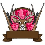 Girl Deer Hunting Camp Royalty Free Stock Photo