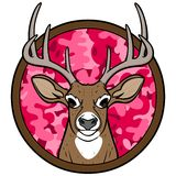 Girl Deer Hunting Insignia Royalty Free Stock Photography