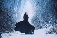 The girl a demon walks alone Royalty Free Stock Photo