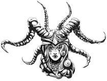 Girl demon Royalty Free Stock Photos
