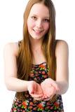 Girl demonstrate Stock Photo