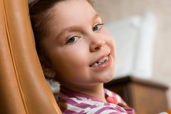 Girl with dental braces Royalty Free Stock Photos