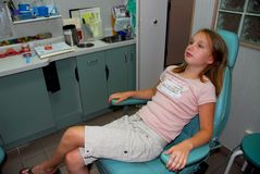 Girl dental office Stock Photos