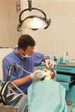 Girl at dentist Royalty Free Stock Photos