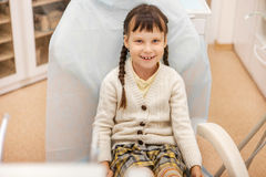 Girl at the dentist. Stock Images