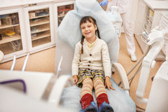 Girl at the dentist. Royalty Free Stock Photos