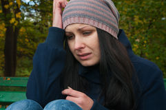 Girl depressed Stock Images