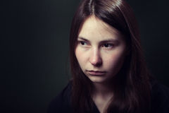Girl in depression Royalty Free Stock Image