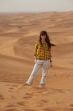 Girl in the desert Stock Photo