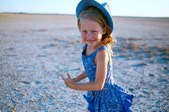 Girl in the desert Royalty Free Stock Photos