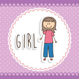 Girl design Royalty Free Stock Photo