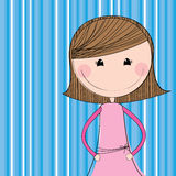 Girl design Stock Images