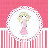 Girl design Royalty Free Stock Image