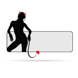 Girl devil sensual silhouette illustration Stock Photo