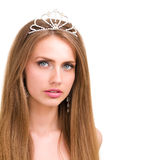 Girl with diadem Royalty Free Stock Images
