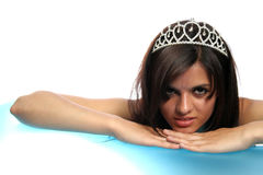 The girl with a diadem Royalty Free Stock Photo